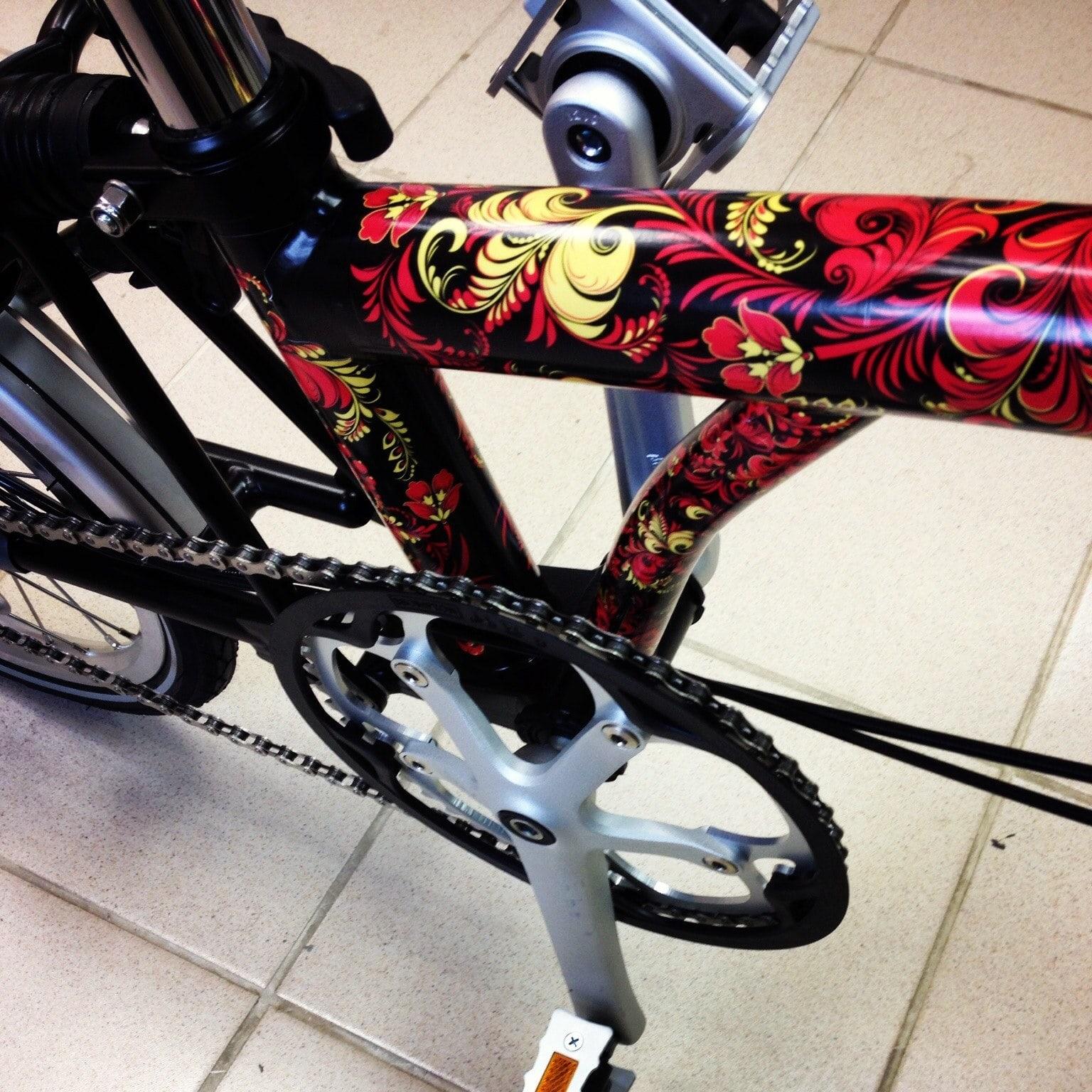 Оклейка велосипеда своими руками 11